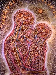 "Alex Grey- ""Kissing"""