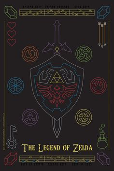 """""""The Legend of Zelda."""" Art byMarcus Hynes This would be so cool on a neon sign!"""