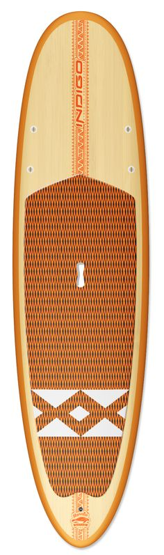 Manatee Native. This all-around board is excellent for beginners and those looking to have fun. This is a solid, stable and maneuverable board.  You can do it all with this one. Great for fitness and leisure paddling, yoga, small surf and fishing. Available in Bamboo, Innegra/Glass and Soft Top construction, Handmade in the USA www.indigo-sup.com