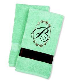 Monogrammed Hand Towel Tutorial