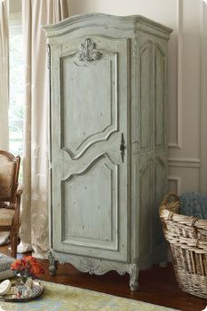 Maldives Corner Cabinet - Distressed Cabinet, Pale Green Cabinet, Open Shelf Cabinet | Soft Surroundings