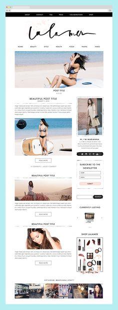 Blog Design for La La Mer / Marianna Hewitt by The Nectar Collective #blogdesign #branding