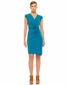 MICHAEL Michael Kors  Faux-Wrap Jersey Dress.