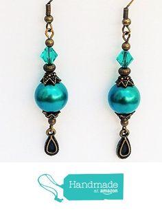 Swarovski Crystal Earrings, Earrings Handmade, Turquoise, Drop Earrings, Amazon, Jewelry, Amazons, Jewlery, Riding Habit