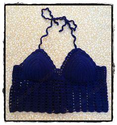 louca por linhas - crochet e patchwork: Cropped top