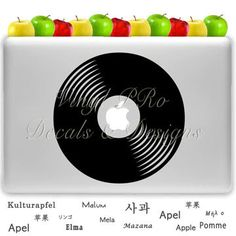 Vinyl Record DJ Decal For Macbook choose color by StickerSwagger, $9.99 #DJ #DJlife #spinning #vinyl #records