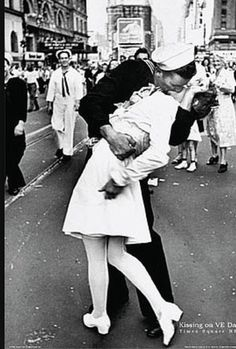 Kissing a stranger has never looked so good. The man dressed in his sailor uniform went around kissing random women after his return from World War 11. This photographer happened to be at the right place at the right time and captured the most iconic kiss ever published in U.S history. It's unnoticeable that the nurse and sailor are strangers because of the passion that radiates from this picture as they share this intimate first kiss. He holds her close with his hand on her lower back and…