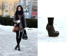 Åhlens Scarf, Jaspal Coat, Mulberry Alexa Bag, Gina Tricot Tights, Monki Bag, Acne Hybria Lea Shoes