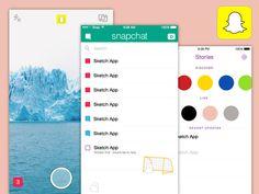 Snapchat iOS Template Snapchat Ios, My Pocket, Tinder, Tao, Mockup, Free Design, Branding, Templates, Cheater
