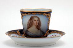 19th C Sevres Portrait Cup & Saucer