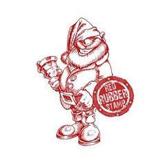 Cheeky Santa available at Little Miss Muffet Stamps.