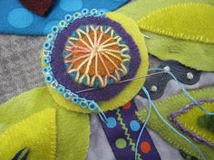 Sue Spargo,, techniques to add to a table runner