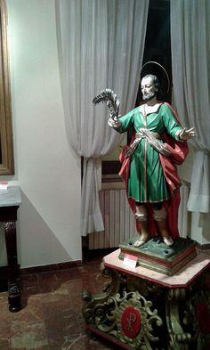La statua del Martire esposta nell'Episcopio di Termoli, in occasione di una Mostra sui Santi Patroni della Diocesi (estate 2015)