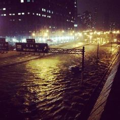 Record high water at Battery Park Ny-13.88 feet. Breaks the previous record from 1960.