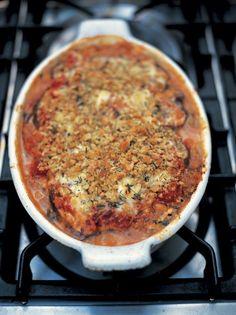 melanzane alla parmigiana aubergine by Jamie Oliver Vegetable Dishes, Vegetable Recipes, Vegetarian Recipes, Healthy Recipes, Healthy Food, Snack Recipes, Pasta Recipes, Cooking Recipes, Parmesan Recipes