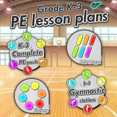 Complete PE lesson units › 100's of skills, games, relays, ideas and station for your grades K-3