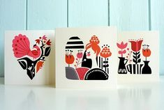 Love these cards by Darling Clementine.  Hoped to find this set when we were in Norway, but didn't run across this particular series.