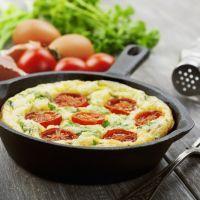 Fresh Tomato, Spinach, and Egg Bake
