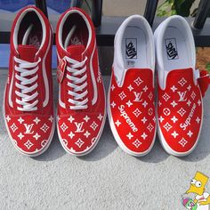Welcome to SQ Customs. by SQCustoms Vans Shoes Fashion, Vans Shoes Women, Custom Vans Shoes, Supreme Shoes, Supreme Lv, Customised Vans, Cute Vans, Vans Girls, Surf Girls