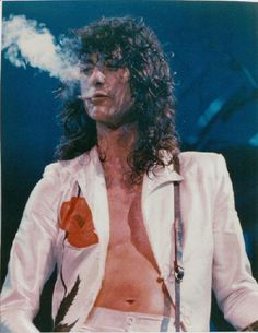 Original Jimmy Page of Led Zeppelin 11x14 Concert Photo.