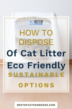 How To Dispose Of Cat Litter Eco-Friendly? The easiest and most common method to dispose of cat waste is to scoop it out of the box, seal it in a bag, and toss it in the garbage. But biodegradable bag designed for cat litter is...Read more here! option.#ecocatlitter #catlitter #cats Cat Health Care, Cat Care Tips, Healthy Pets, Happy Animals, Biodegradable Products, Cute Cats, Seal, Dog Cat, Eco Friendly
