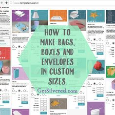 Free box templates... custom sizes... can save as .svg for Silhouette