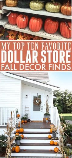 Top Ten Dollar Store Fall Decor Finds   The Creek Line House Dollar Store Crafts, Dollar Stores, Thrift Stores, Fall Home Decor, Autumn Home, Fall Crafts, Decor Crafts, Diy Crafts, Tree Crafts