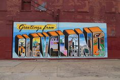 Greetings From Cleveland unveiling at the Cleveland Hostel by the corner of Chatham and West 25th in Ohio City  (photo by Emanuel Wallace)