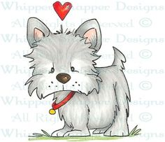 Dallas - Dogs - Animals - Rubber Stamps - Shop