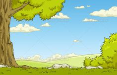 Buy Landscape by ded_Mazay on GraphicRiver. Landscape with tree and shrub. No transparency used. JPG and EPS vector files. Background Clipart, Cartoon Background, Background Images, Landscape Background, Trees And Shrubs, Vector Graphics, Eps Vector, Vector Design, Graphic Prints
