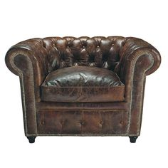 A vintage 1920 s leather chesterfield sofa