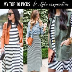 striped outfit ideas, stripes, striped dresses, casual outfits, spring outfits
