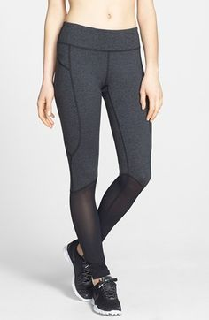 My favorite workout tights! Nice compression, waist isn't too high or low, stylish, and the mesh keeps you cool. I also love the free alterations at Nordies. Had these hemmed to fit at the ankle without all the bunching.   Zella 'Double Dare' Leggings available at #Nordstrom