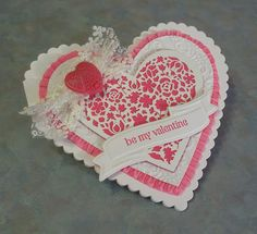 Heart Shaped Valentine's Day Card by Sylvaqueen - Cards and Paper Crafts at Splitcoaststampers