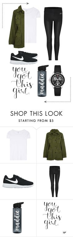 """You Got This! #Sporty"" by konstantinaaabour ❤ liked on Polyvore featuring Velvet, J.Crew, NIKE, Y-3 Sport and Michele"