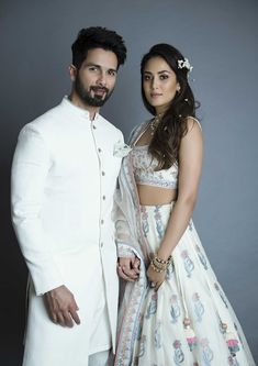 Shahid Kapoor- Mira Rajput Walk Hand-in-Hand As Showstoppers For Anita Dongre At Lakme Fashion Week 2018 Wedding Dresses Men Indian, Wedding Dress Men, Indian Weddings, Wedding Wear, Pakistani Dresses, Wedding Suits, Wedding Attire, Trendy Wedding, Wedding Bells