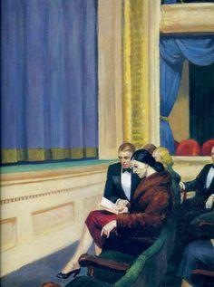 "Edward Hopper, ""First Row Orchestra,"" 1951."
