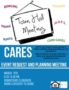#BeeCaveApartments is looking for your #suggestions this season! Join your #Cielo #CARESTeam #tomorrow evening for our very own #townhallmeeting! Residents will be given the #opportunity to #express their #opinions, #shareideas, and #discuss any items of interest surrounding #ourcommunity. The meeting starts at 6:30PM in the Clubhouse. Feel free to bring a #dessert to #share! Long #LiveCielo!