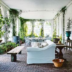 Axel Vervoordt-garden room-Another garden room at Axel Vervoordt's s'Gravenswesel compound in Belgium. From Vogue Living. Photography by Michael Paul