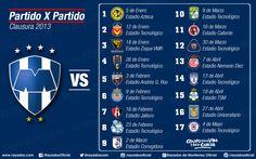 Calendario de partidos #Rayados en el Clausura 2013  #soccer #sports #mexico #LigaMX