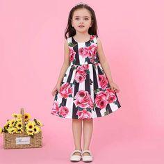 23dd5c273 Striped floral dress   Vestido floral a rayas. Vestidos Niña VeranoVestido  ...