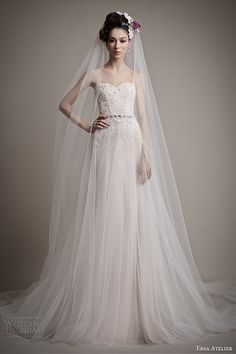ersa atelier wedding dress 2015 melisse strapless gown tulle over skirt. This dress is so versatile!