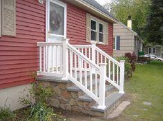 white railing for front steps - Ballard