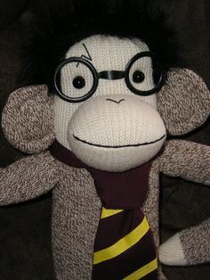 Hey, I found this really awesome Etsy listing at http://www.etsy.com/listing/79299548/harry-potter-sock-monkey-doll