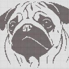 Where the Dog Is Tan Black Pug Cross Stitch Pattern   Etsy Small Cross Stitch, Cross Stitch Kitchen, Cross Stitch Charts, Cross Stitch Designs, Cross Stitch Patterns, Cross Stitching, Cross Stitch Embroidery, Embroidery Patterns, Knitting Patterns