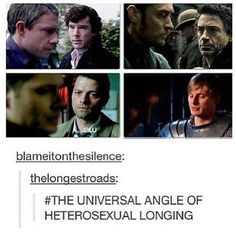 Omg this. <--- what's cool about this is that both of the top photos are of Sherlock and Watson ....