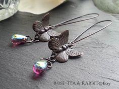 Drop/Dangle Butterfly Earrings  Highly by RoseTeaAndRabbit on Etsy https://www.etsy.com/uk/listing/241755105/dropdangle-butterfly-earrings-highly?ref=shop_home_active_1