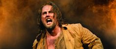 Geronimo Rauch as Jean Valjean in Les Miserables theatre production.