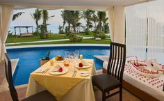 Dine on your terrace at Karisma Resort's El Dorado Maroma