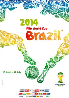 Fifa World Cup 2014 official poster printable file1 FIFA World Cup Brazil 2014 HD Desktop, iPad & iPhone Wallpapers